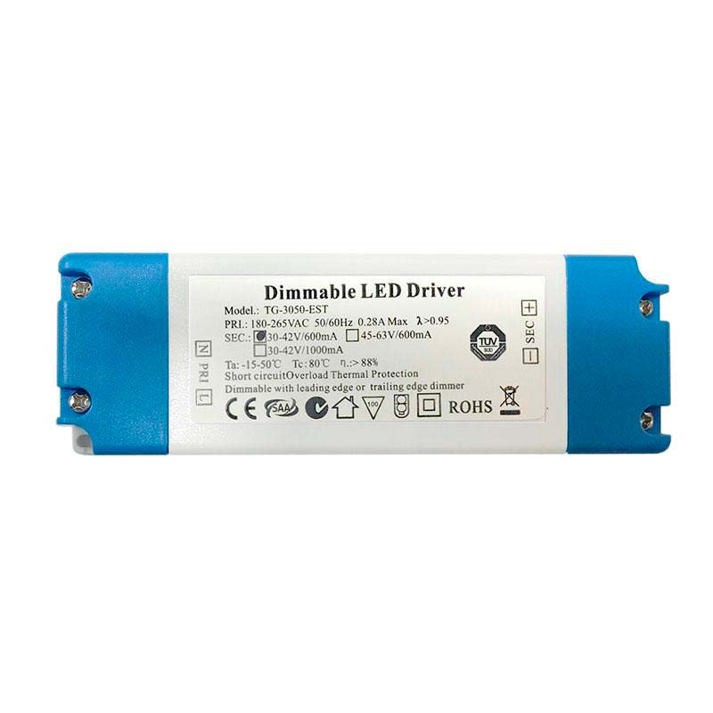 LED Driver DC30-42V/25W/600mA Regulable, Regulable
